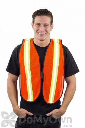 MCR V201R Safety Vest with Reflective Stripe