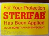 Steri-Fab Has Been Applied Sticker