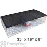 Bird Barrier Pigeon Trap with Shade, Water and Feeder