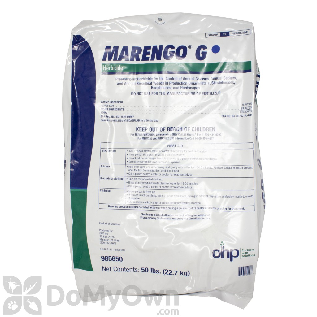 It is an image of Priceless Marengo G Herbicide Label