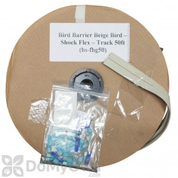 Bird Barrier Beige Bird - Shock Flex - Track 50 ft. (bs-fbg50)
