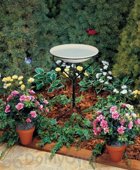 Allied Precision Non - Heated Bird Bath with Metal Stand 20 in. (850)