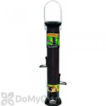 Droll Yankees ONYX Tube 4 Port Nyjer Bird Seed Feeder with Removable Base (CC18N)