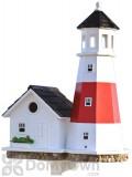 Home Bazaar Montauk Point Lighthouse Bird house 19.5 in. (HB9084)