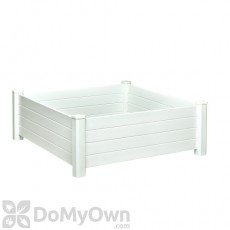 Nuvue Raised Garden Bed Modular White PVC 4' x 4'