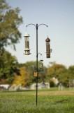 Panacea Two Way Bird Feeding Station 85 in. Black (89143)