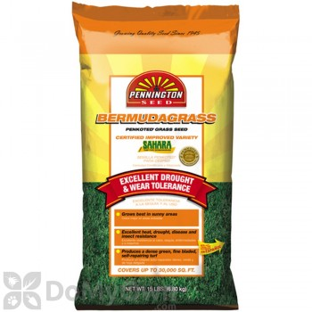 Pennington Bermudagrass Sahara Unhulled Certified Penkoted Grass Seed