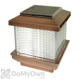 Pine Top Solar Plastic Fence Light with 2 Adapters - Copper Plated