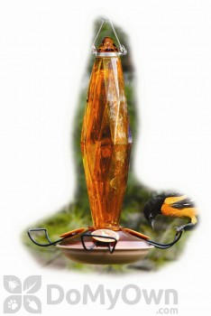 Woodlink Audubon Jewel Cut Glass Amber Colored Oriole Feeder (NAO8)
