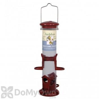 Woodlink Audubon 4 Port Apple Color Mixed Seed Tube Bird Feeder (NATUBE8)