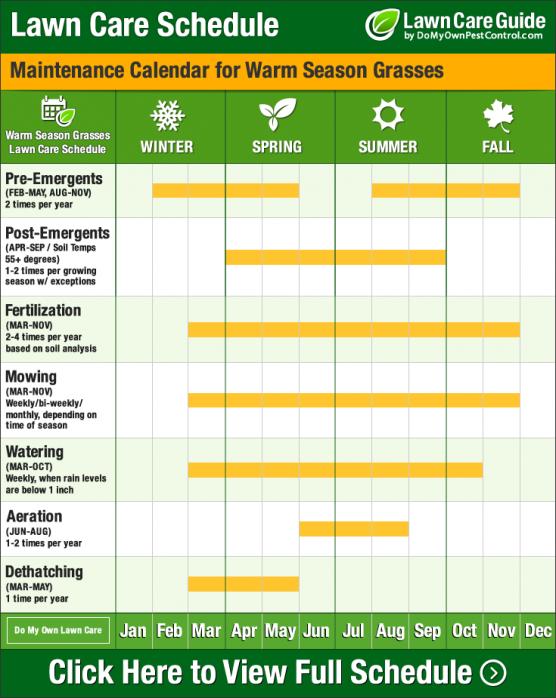 lawn care schedule template